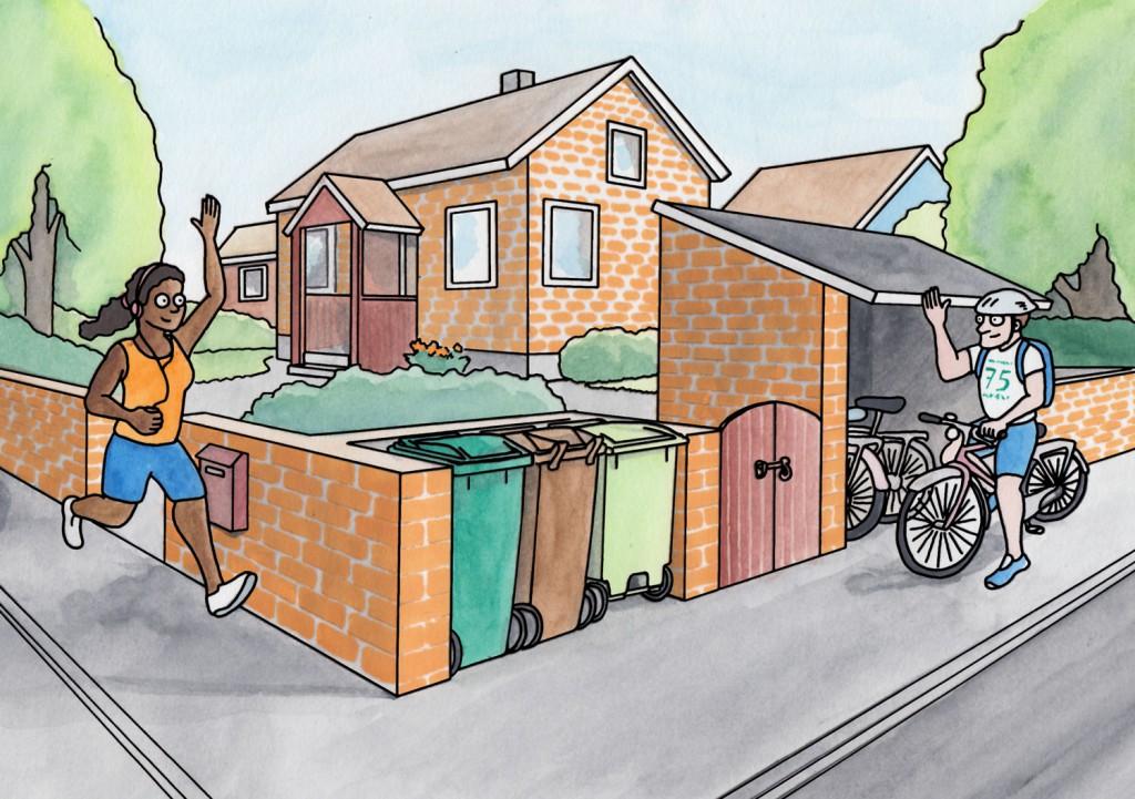 Plats för kärlen - Illustration till broschyr för Kungälvs kommun