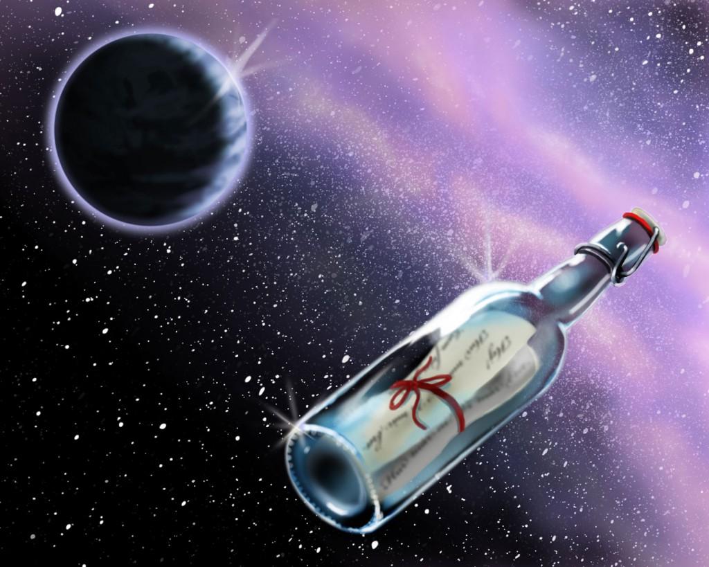 Illustration till artikel om interstellär kommunikation