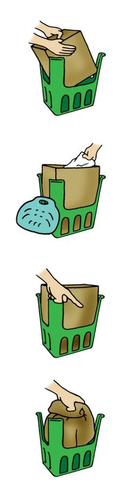 Påsinstruktion - Illustration till broschyr för Kungälvs kommun